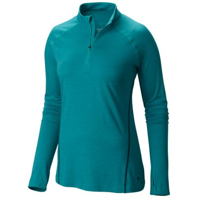photo: Mountain Hardwear Women's Integral Zip Tee base layer top
