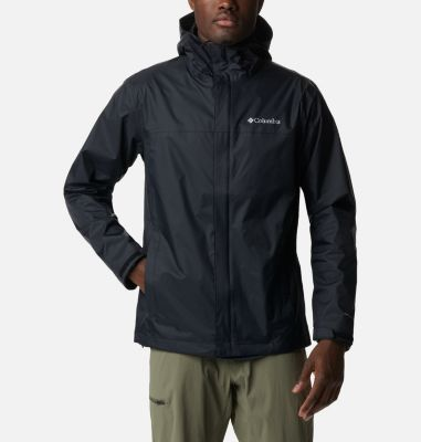 Men's Watertight Waterproof Breathable Hooded Rain Jacket | Columbia