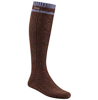 Women's Oversized Wool Cable Knee High Sock