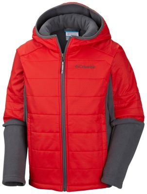 photo: Columbia Fast Trek Hybrid Hoodie synthetic insulated jacket