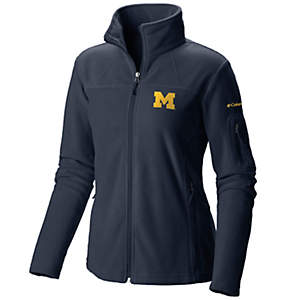 Women's Collegiate Give and Go™ Full Zip Fleece Jacket - Michigan