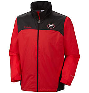 Men's Collegiate Glennaker Lake™ Stow-Hood Rain Jacket - Georgia