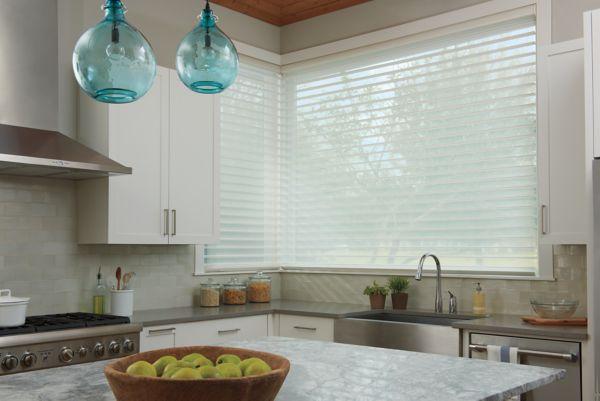 wood blinds room scene