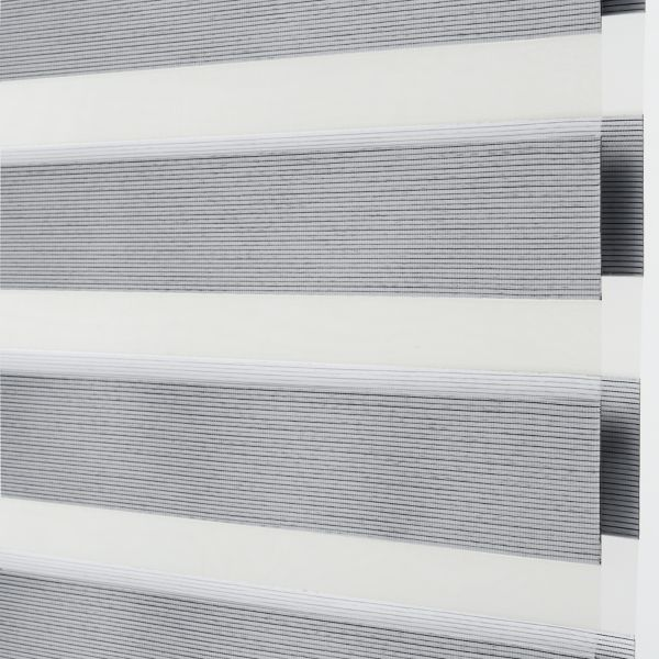 Banded Shades - Brilliance Room Darkening - Gray 4E2GY038