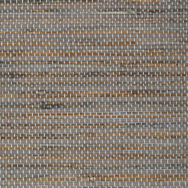 Natural Shades - Bay Weave Room Darkening Fabric Liner Gray WYR81914