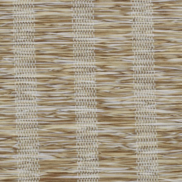 Roman Shades - Lemongrass Stripe Light Filtering Mocha 10133338