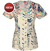 Women's Gen Flex Junior Fit V-Neck Scrub Top