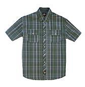 Short Sleeve Button Plaid Shirt