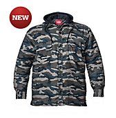 Quilted Faux Fleece Camo Jacket