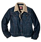 Women's Sherpa Lined Denim Jacket