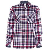 Women's Plaid Herringbone Flannel Shirt