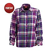 Women's Long Sleeve Plaid Flannel Shirt (Plus)