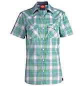 Women's Short Sleeve Plaid Western Shirt