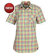 Women's Short Sleeve Plaid Shirt