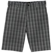 "Performance 11"" Flat Front Plaid Short"
