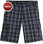 "Performance Flex 11"" Relaxed Fit Plaid Cargo Short"