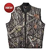 Diamond Quilted Camo Vest