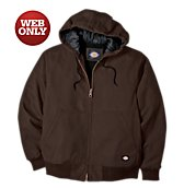 Sanded Duck Insulated Hooded Jacket