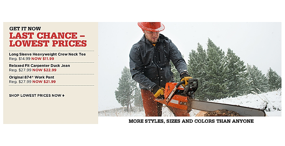 Lowest Prices of the Season | Dickies