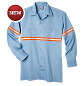 Enhanced Visibility Long Sleeve Twill Work Shirt