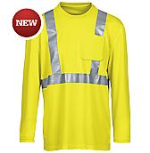 Hi-Vis Long Sleeve Pocket T-Shirt, Class 2