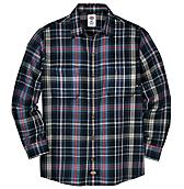 Long Sleeve Plaid Flannel Button Front Shirt