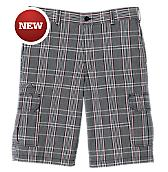 "13"" Regular Fit Plaid Cargo Short"