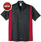 Short Sleeve Two-Tone Work Shirt