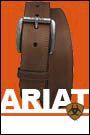 Ariat Men's Work Belt with Triple Row Stitch