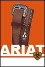 Ariat Mens Austin Belt with Tooled Shaped Billets