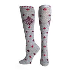 Ariat Ladies Grey Filigree Knee High Socks Best Price