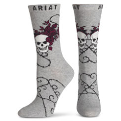 Ariat Ladies Heather Grey Scorned Ankle Socks Best Price