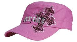 Ariat Ladies Pink Cross Military Cap Best Price