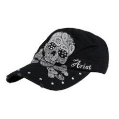 Ariat Ladies Black Skull Military Cap Best Price