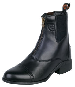 Ariat Ladies Heritage III Black Zip Paddock Boots Best Price