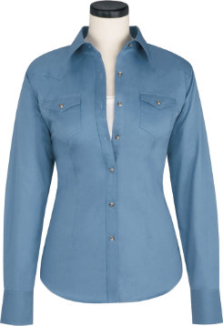 Ariat Ladies Solid Twill Western Snap Shirt Best Price