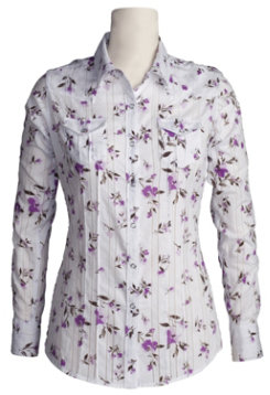 Ariat Ladies Louisa Western Shirt-SIZE: XLarge COLOR: White Best Price
