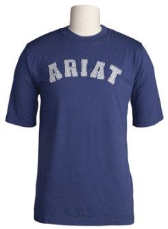 Ariat Mens Applique Logo Short Sleeve Tee Shirt Best Price