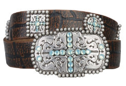 Ariat Ladies Blue Sunday Belt Best Price