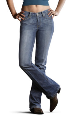 Ariat Ladies  Turquoise Denim Jeans Best Price