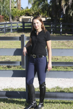 Ariat Ladies Olympia Low Rise EuroSeat Knee Patch Breeches Best Price