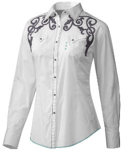 Ariat Ladies Skull Embroidered Western Shirt Best Price