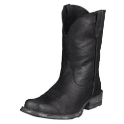 AT Mens Rough Blk Rambler Wstn Boot Best Price