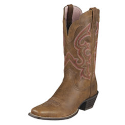AT Lds Rustic Brown Ransom Wstn Boot Best Price