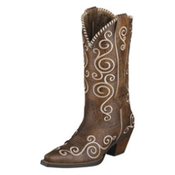 AT Lds Twny Brown Shelleen Wstn Boot Best Price
