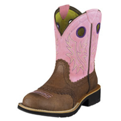 AT Lds ChocBblgum Fatbaby Cowgirl Boot Best Price