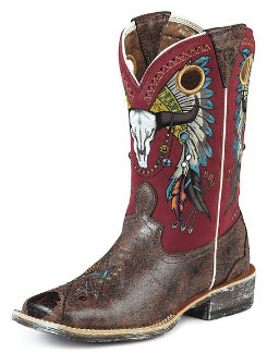 AT Lds Rodeobaby Roundup Wstn Boot Best Price