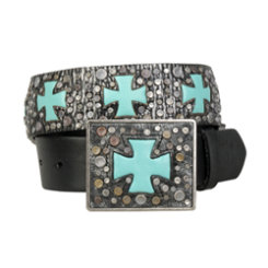Ariat Ladies Turquoise Cross Ransom Belt Best Price