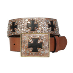 Ariat Ladies Black Cross Ransom Belt Best Price
