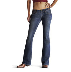 AT Lds Ruby Side Tab Btcut Jeans-Bluegrass Best Price